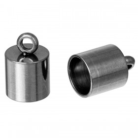 Endcaps 304 Stainless steel zilverkleur 10x7mm