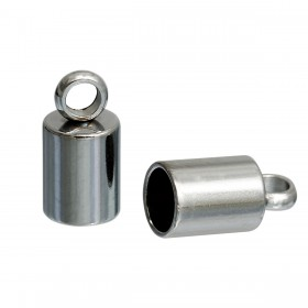 Endcaps 304 Stainless steel zilverkleur 10x5mm