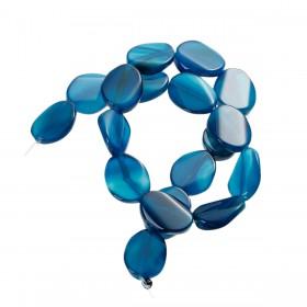 Half edelsteen agaat Blue