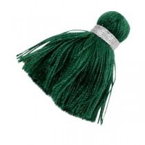 kwastjes 3.6cm Zilver-dark green