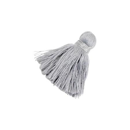 kwastjes 3.6cm Zilver-light grey