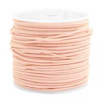 Gekleurde elastische draad 1.5mm Pastel peach