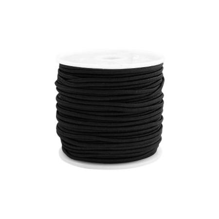 Gekleurde elastische draad 1.5mm Black