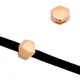 DQ metaal prisma Ø3mm Rosé goud (nikkelvrij)