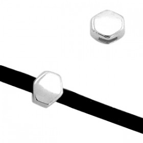 DQ metaal prisma Ø3mm Antiek zilver (nikkelvrij)