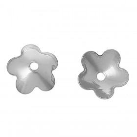 Kralenkapje bloem 304 Stainless steel zilverkleur