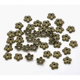 Kralenkapje bronskleur 6mm