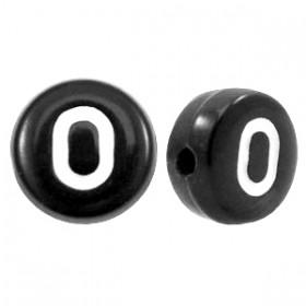 Acryl letterkraal rond O zwart