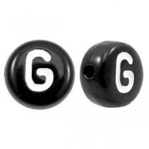 Acryl letterkraal rond G zwart
