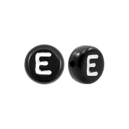 Acryl letterkraal rond E zwart