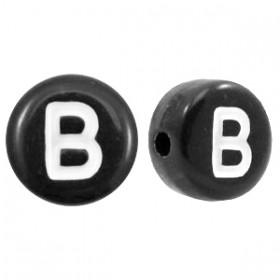 Acryl letterkraal rond B zwart