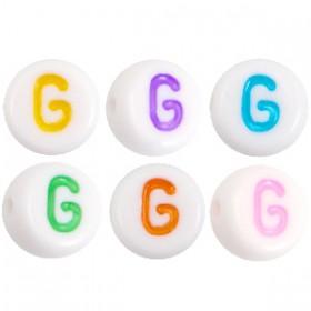 Acryl letterkraal rond G gekleurd