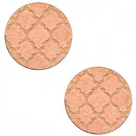 Basic houten cabochon 12mm Moroccan design Rosegold