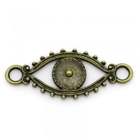 Connector antiek bronskleur oog