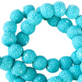 Sparkling beads 6mm Lagoon blue