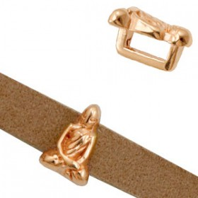 DQ metaal schuiver Buddha Ø5.2x2.2mm Rosé goud (nikkelvrij)