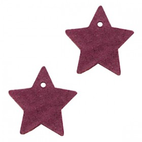 DQ leer hanger ster Light aubergine red