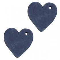 DQ leer hanger hart Dark denim blue