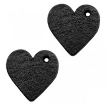 DQ leer hanger hart Midnight black