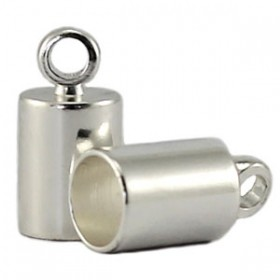 DQ eindkapje 6.5 mm Silver plated duurzame plating