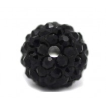 Czech rhinestone beads 6mm Black