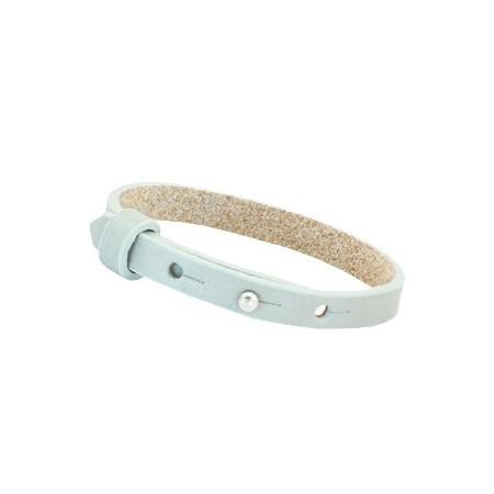 Cuoio armbanden leer 8 mm voor 12 mm cabochon Grayed sea green