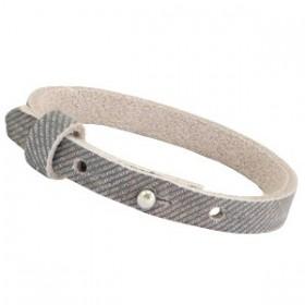 Nubuck Cuoio armbanden leer 8 mm voor 12 mm cabochon Denim Grey