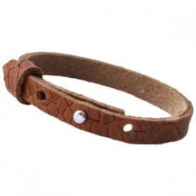 Cuoio armbanden reptile leer 8 mm voor 12 mm cabochon Chestnut Brown