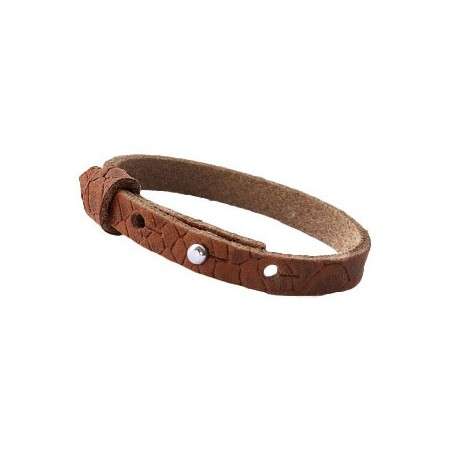 Cuoio armbanden reptile leer 8 mm voor 12 mm cabochon Chestnut Brown