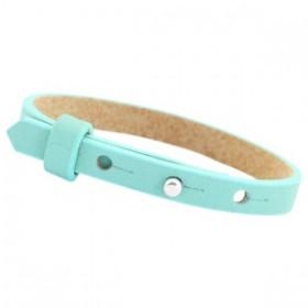 Cuoio armbanden leer Kids 8 mm voor 12 mm cabochon Aqua blue