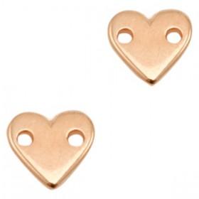 DQ metalen tussenstuk hart Rose goud (nikkelvrij)