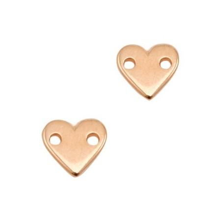 DQ metalen tussenstuk hart Rosé goud (nikkelvrij)