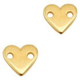 DQ metalen tussenstuk hart Goud (nikkelvrij)