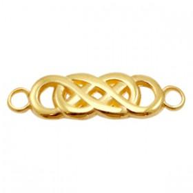 DQ metalen tussenstuk infinity Goud (nikkelvrij)