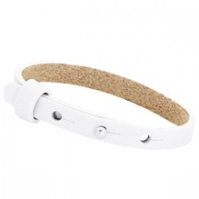 Cuoio armbanden leer Kids 8 mm voor 12 mm cabochon Wit