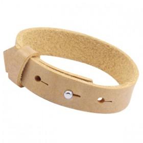 Cuoio armbanden leer 15 mm voor 20 mm cabochon Ochre yellow gold