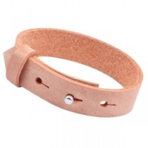 Cuoio armbanden leer 15 mm voor 20 mm cabochon Coral peach echo