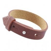 Cuoio armbanden leer 15 mm voor 20 mm cabochon Dark pink