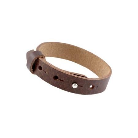 Cuoio armbanden leer 15 mm voor 20 mm cabochon Fudge brown