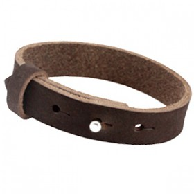 Cuoio armbanden leer 15 mm voor 20 mm cabochon Dark chocolate brown