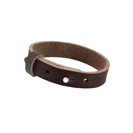 Cuoio armbanden leer 15 mm voor 20 mm cabochon Dark chocolate brown