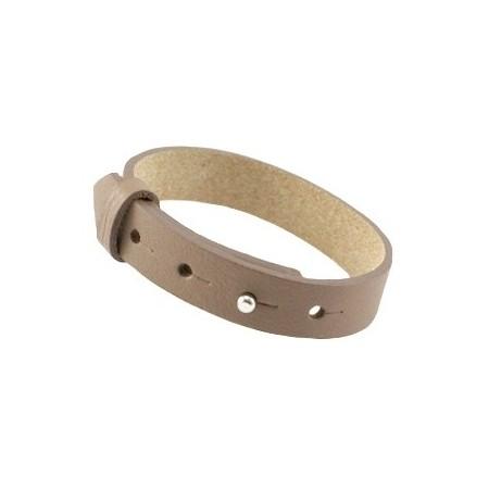 Cuoio armbanden leer 15 mm voor 20 mm cabochon Cinnamon Brown