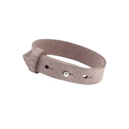Cuoio armbanden leer 15 mm voor 20 mm cabochon Soft Terra Brown