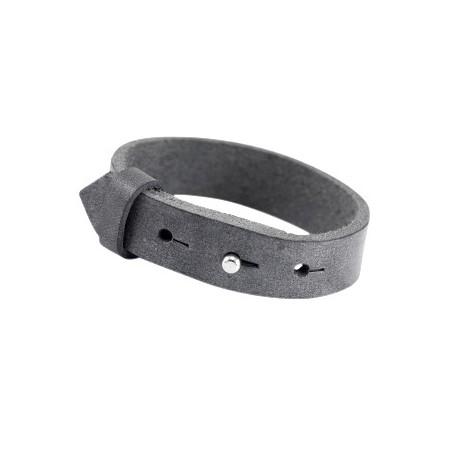 Cuoio armbanden leer 15 mm voor 20 mm cabochon Black antique