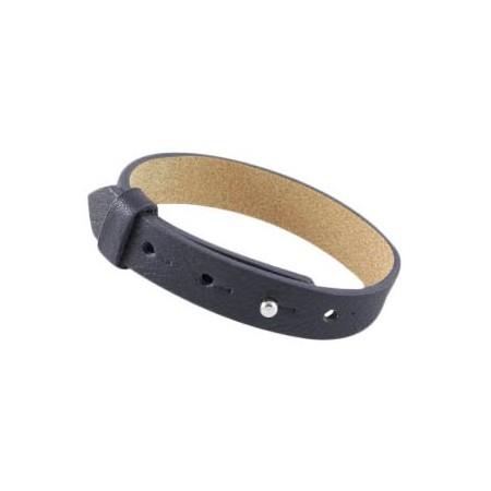 Cuoio armbanden leer 15 mm voor 20 mm cabochon Zwart