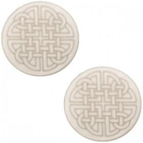 12mm platte cabochon Polaris Celtic print plat Silver shade