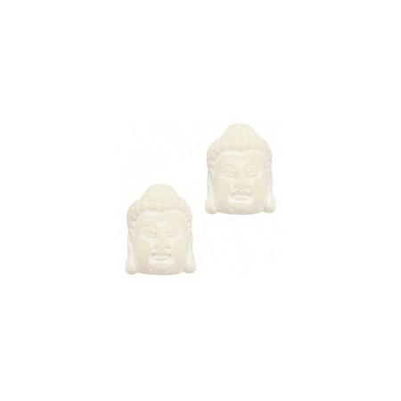 DQ acryl kraal Buddha hoofd Beige