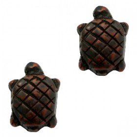 DQ acryl kraal schildpad Dark brown-black