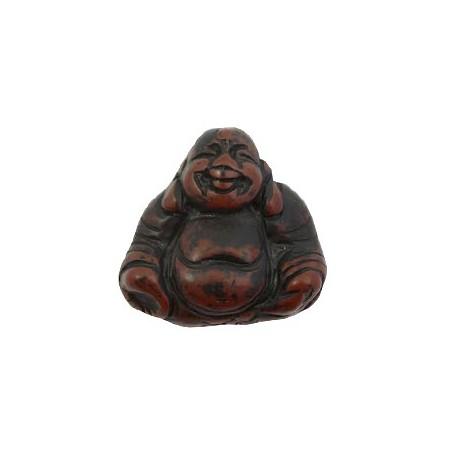 DQ acryl kraal Buddha Dark brown-black