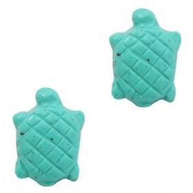 DQ acryl kraal schildpad turquoise